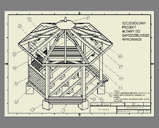 Projekt Altany Ogrodowej 6 Kątnej D40 M Budownictwo